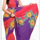 Indian Bollywood Faux Georgette Printed Sari With Unstitch Blouse - X 2184B N