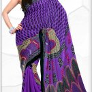 Indian Bollywood Faux Georgette Printed Sari With Unstitch Blouse - X 2201A N
