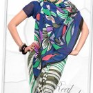 Indian Bollywood Faux Georgette Printed Sari With Unstitch Blouse - X 2188B N