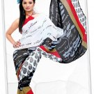 Indian Bollywood Faux Georgette Printed Sari With Unstitch Blouse - X 2178B N