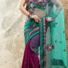 Net Partywear Bridal Designer Embroidery Saree With Blouse -X 7357d N