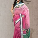 Faux Georgette Partywear Bridal Designer Embroidery Saree With Blouse -X 7349c N