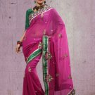 Faux Georgette Partywear Bridal Designer Embroidery Saree With Blouse -X 7318d N