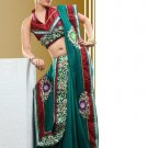 Faux Georgette Partywear Bridal Designer Embroidery Saree With Blouse -X 7350a N