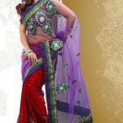 Net Partywear Bridal Designer Embroidery Saree With Blouse -X 7357a N