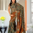 Partywear Faux Georgette Heavy Embroidered Saree With Blouse - Ls Alka A N