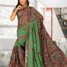 Partywear Faux Georgette Heavy Embroidered Saree With Blouse - Ls Alka B N