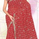 Partywear Faux Georgette Heavy Embroidered Saree With Blouse - Ls 2499c N