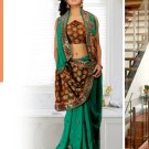Partywear Faux Georgette Heavy Embroidered Saree With Blouse - Ls Aditi B N
