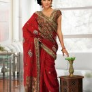 Partywear Faux Georgette Heavy Embroidered Saree With Blouse - Ls Aditi A N