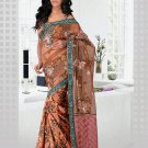 Partywear Faux Georgette Heavy Embroidered Saree With Blouse - Ls Pushpa B N