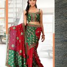 Partywear Faux Georgette Heavy Embroidered Saree With Blouse - Ls Amolika B N