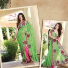 Saree Bridal Georgette Georgeous Embroidery With Unstitched Blouse - X 1108 N