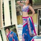Saree Bridal Georgette Georgeous Embroidery With Unstitched Blouse - X 1105 N