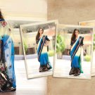 Saree Bridal Georgette Georgeous Embroidery With Unstitched Blouse - X 1109 N