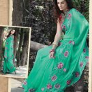 Saree Bridal Georgette Georgeous Embroidery With Unstitched Blouse - X 1111 N