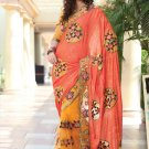 Saree Bridal Chiffon Net Georgeous Embroidery With Unstitched Blouse - X 1112 N