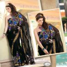 Saree Bridal Bemberg Georgeous Embroidery With Unstitched Blouse - X 1101 N