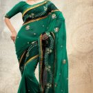 Partywear Net Georgette Designer Embroiderey Sarees Sari With Blouse - X 952A N