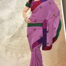 Partywear Faux Georgette Designer Embroiderey Sarees Sari With Blouse - X 978B N