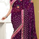 Partywear Faux Georgette Designer Embroiderey Sarees Sari With Blouse- X 1001A N