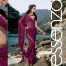 Sari Saree Faux Georgette Designer Printed With Unstitch Blouse - SM 900A N