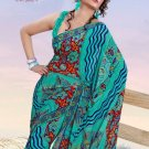 Casual Partywear Soft Georgette Printed Designer Saree - Ts 29014a N