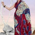 Casual Partywear Faux Georgette Printed Designer Saree - Ts 29009a N