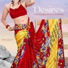 Casual Partywear Georgette Sattin Patti Printed Designer Saree - Ts 29001a N