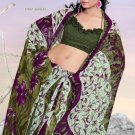 Casual Partywear Faux Georgette Printed Designer Saree - Ts 29009b N