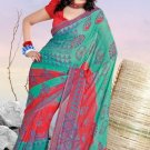 Casual Partywear Georgette Printed Designer Saree - Ts 29017a N