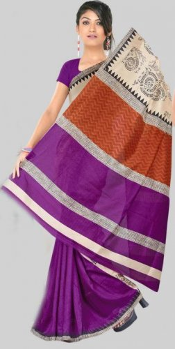 Silk Casual Partywear Designer Printed Sarees Sari With Blouse - X 4767B N