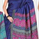 Silk Casual Partywear Designer Printed Sarees Sari With Blouse - X 4797B N