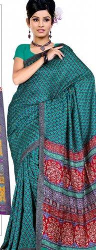 Silk Casual Partywear Designer Printed Sarees Sari With Blouse - X 4797D N