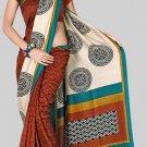 Silk Casual Partywear Designer Printed Sarees Sari With Blouse - X 4352B N