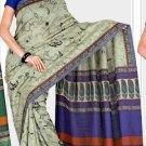 Silk Casual Partywear Designer Printed Sarees Sari With Blouse - X 4854C N
