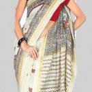 Silk Casual Partywear Designer Printed Sarees Sari With Blouse - X 4469B N