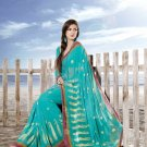 Sarees Sari Partywear Faux Georgette Designer Printed With Blouse - SM 695A N