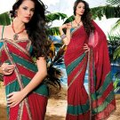 Sarees Sari Partywear Faux Georgette Designer Printed With Blouse - SM 654A N