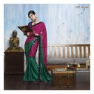 Sattin Patti Partywear Designer Embroidered Sarees Sari With Blouse - LPT 2047 N