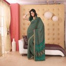 Crepe Partywear Printed Indian Bollywood Sarees Sari With Blouse - RS 5407 N