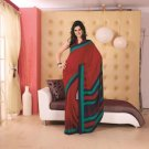 Crepe Partywear Printed Indian Bollywood Sarees Sari With Blouse - RS 5416 N