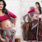 Net Partywear Bridal Designer Embroidered Saris Sarees with Blouse - X 205 N