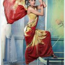 Faux Georgette Partywear Designer Printed Saree Sari With Blouse - X 2527 N