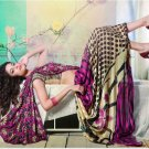 Faux Georgette Partywear Designer Printed Saree Sari With Blouse - X 2519 N