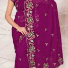 Partywear Faux Georgette Designer Embroidered Saris Saree With Blouse- LS 2415 N