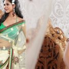 Net Partywear Bridal Designer Embroidered Saris Sarees with Blouse - X 203 N