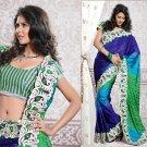 Jacquard Partywear Bridal Designer Embroidered Sari Saree with Blouse - X 229 N