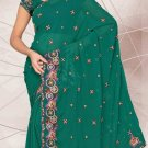Partywear Faux Georgette Designer Embroidered Saris Saree With Blouse- LS 2417 N