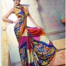 Faux Georgette Partywear Designer Printed Saree Sari With Blouse - X 2535 N